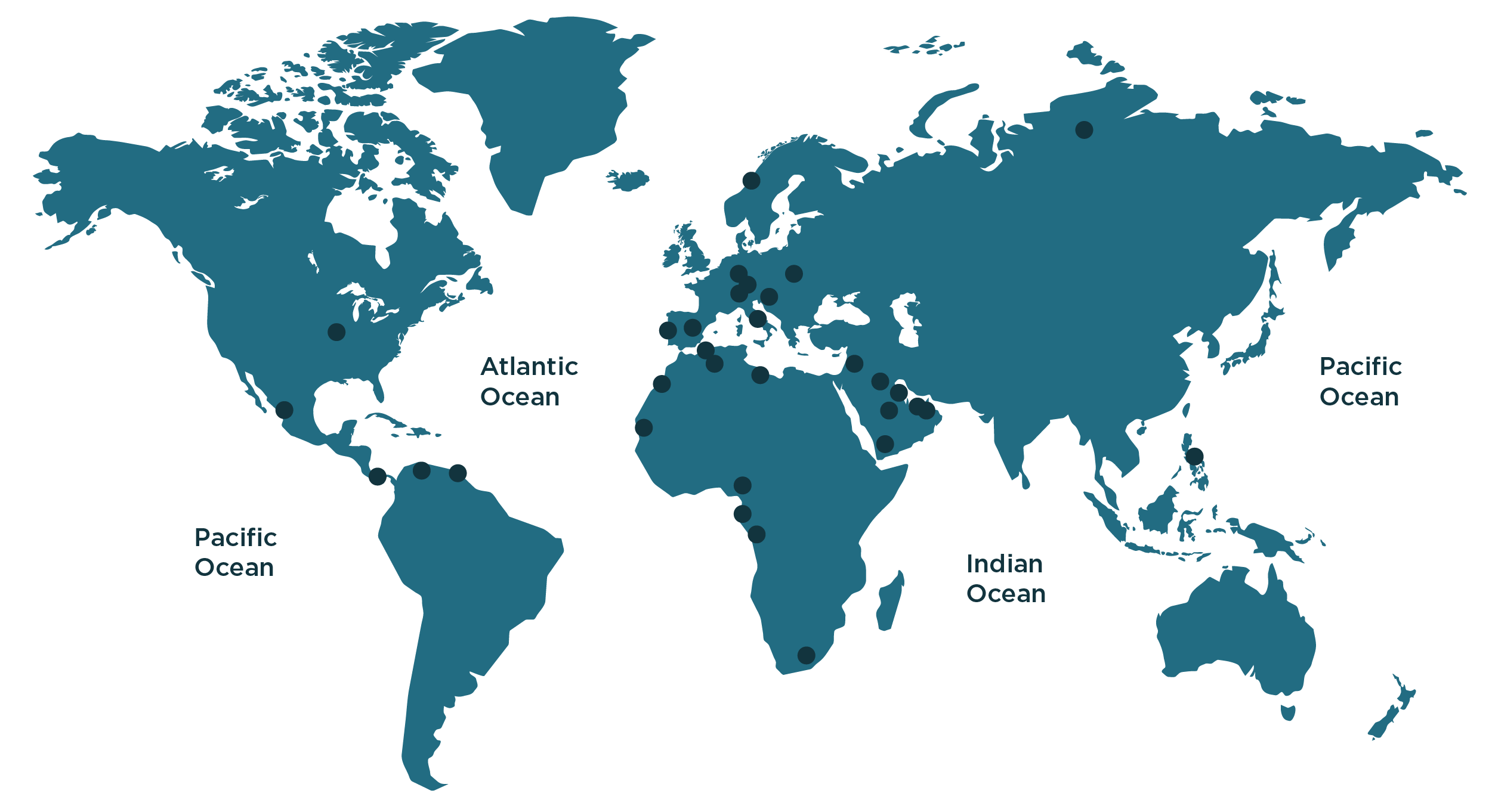 Mapa mundi clientes Acastimar página empresa