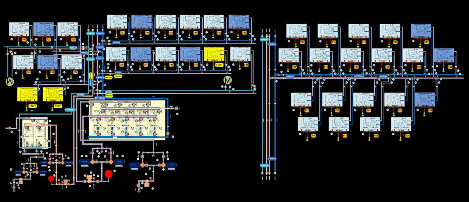 Esquema distribución agua Acastimar página ingeniería