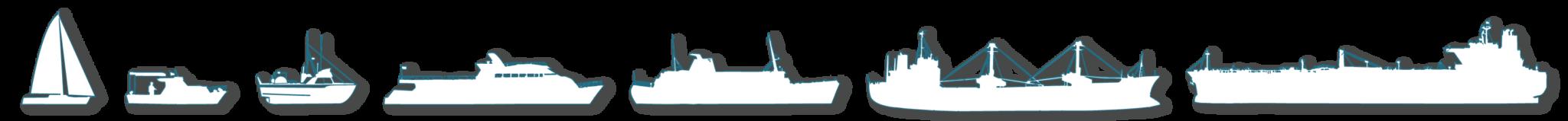 Siluetas diferentes tipos de barco portada Acastimar