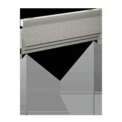 Romanblind - gradient - hard pleat - soft furnishings - Dometic - Acastimar